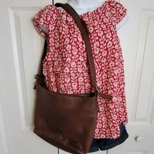 Tiganello Dark Brown Leather Shoulder Bag